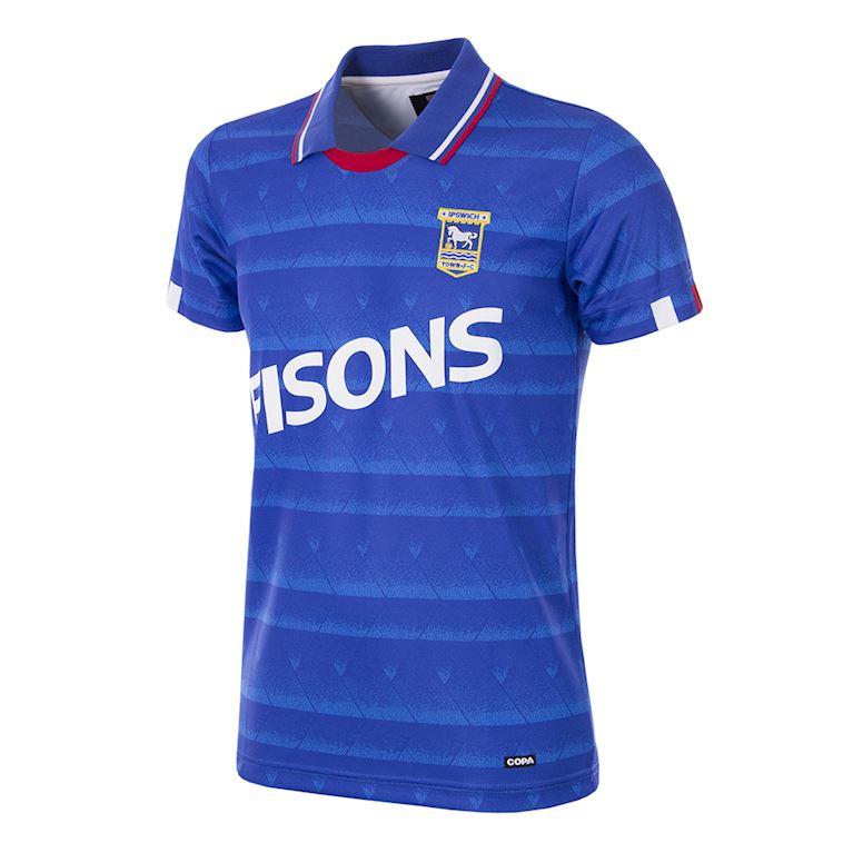 165 | Ipswich Town FC 1991 - 92 Retro Voetbal Shirt | 1 | COPA