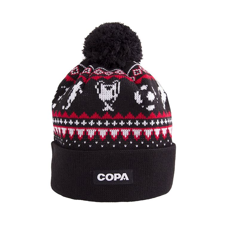 5009 | Nordic Knit Beanie | Black-Red-White | 1 | COPA