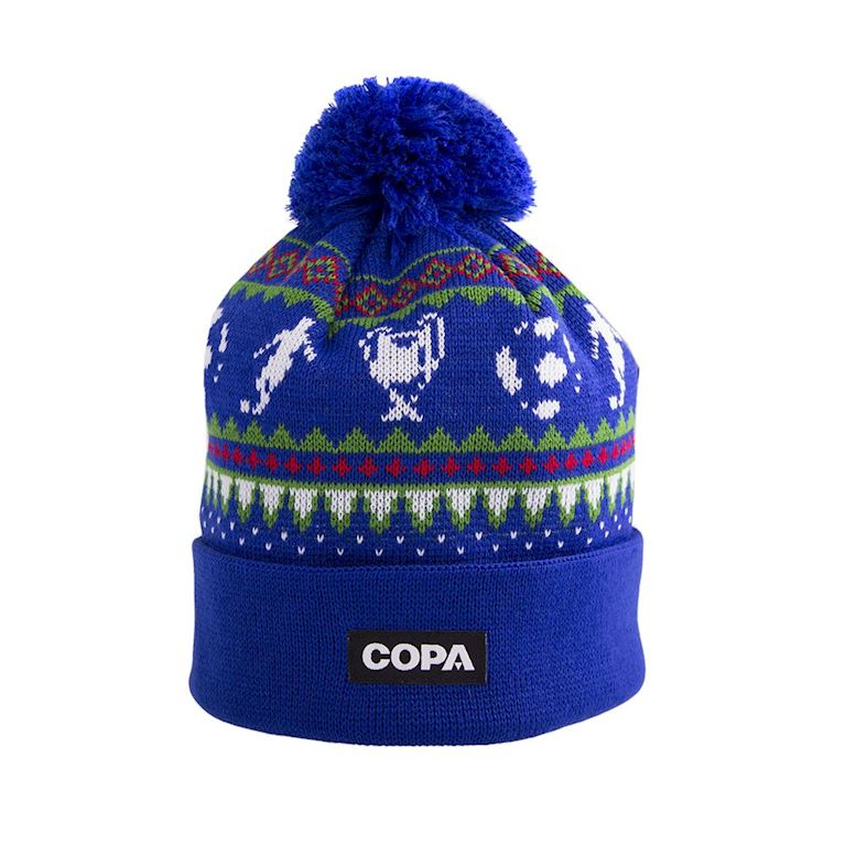 5008 | Nordic Knit Beanie | Blue-Red-Green-White | 1 | COPA