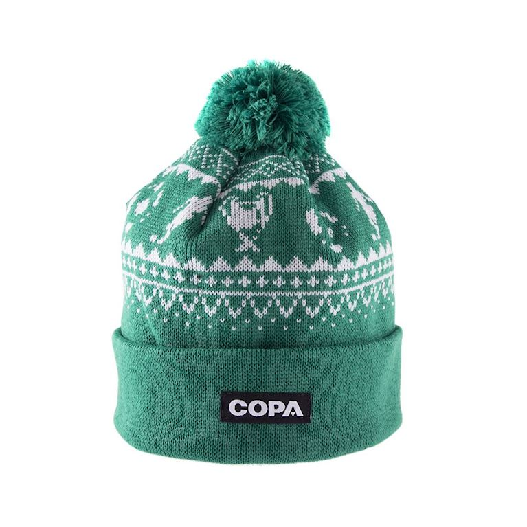 5005 | Nordic Knit Beanie | Green-White | 1 | COPA
