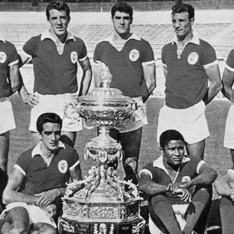 187 | SL Benfica 1962 - 63 Maillot de Foot Rétro | 2 | COPA