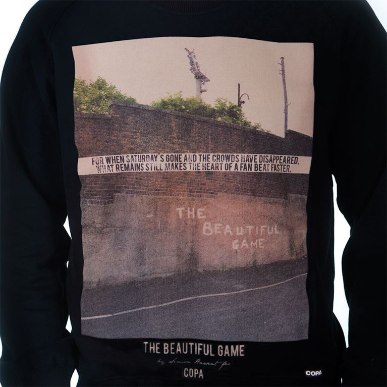 6457 | The Beautiful Game Sweater | Black | 2 | COPA