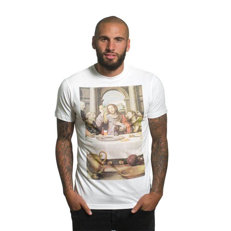 6664 | The Last Supper T-Shirt | White | 1 | COPA