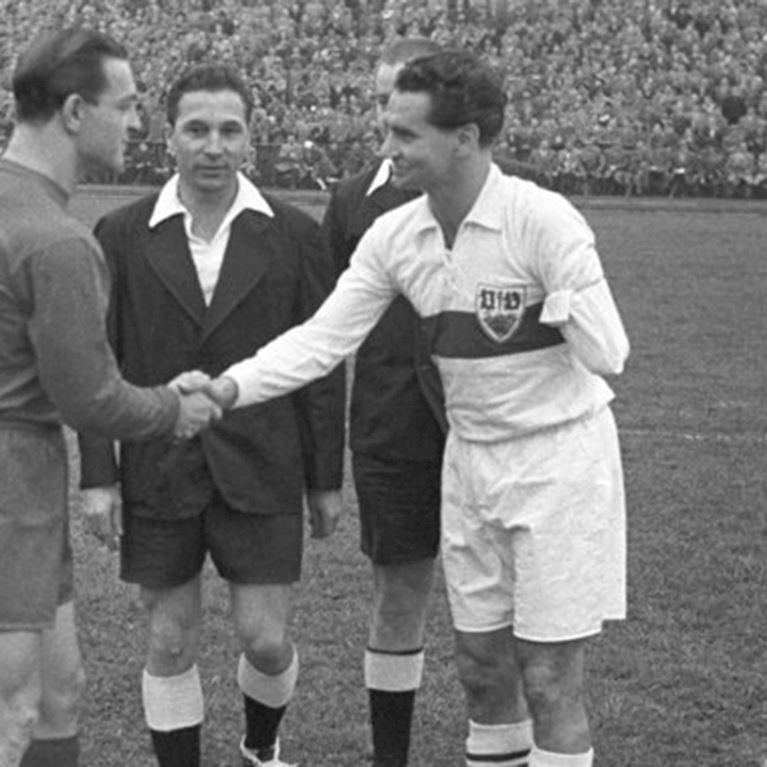 138 | VfB Stuttgart 1958 - 59 Retro Fußball Trikot | 2 | COPA