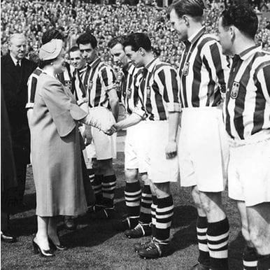 140 | West Bromwich Albion 1953 - 54 Retro Football Shirt | 2 | COPA