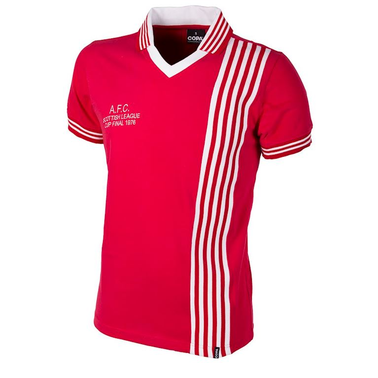 766 | Aberdeen FC 1976 - 1977 League Cup Final Short Sleeve Retro Football Shirt | 1 | COPA