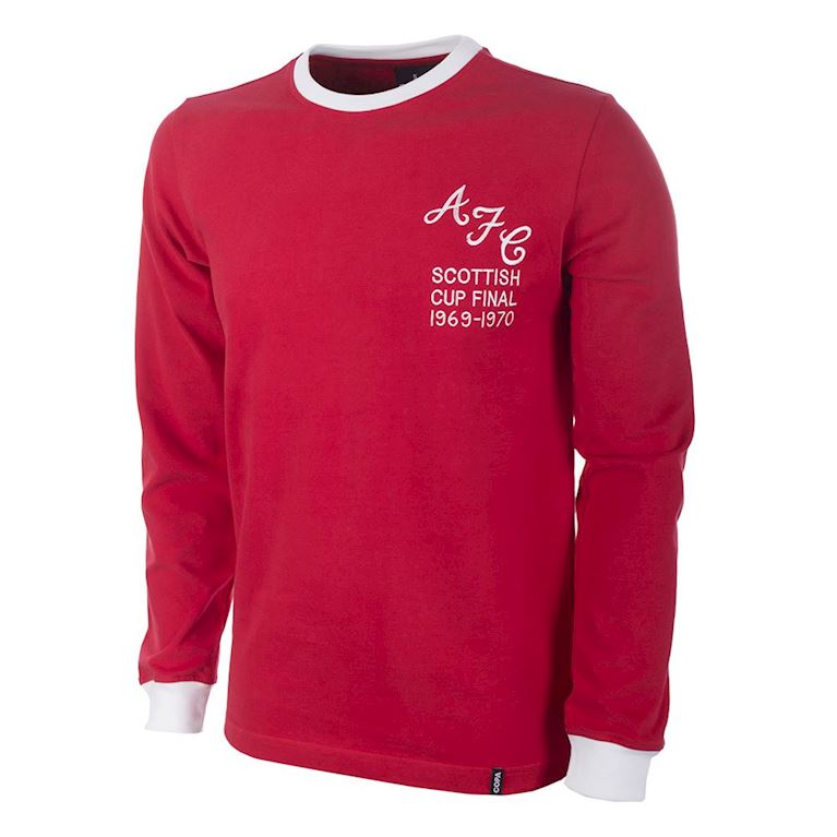 790 | Aberdeen FC 1970's Long Sleeve Retro Football Shirt  | 1 | COPA