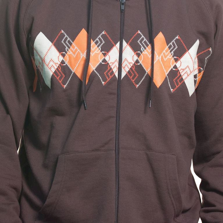 6413   Argyle Zip Hooded Sweater   Brown   2   COPA