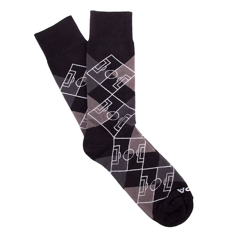 5105 | Argyle Pitch Socks | Black - Dark Grey - Grey - White | 1 | COPA