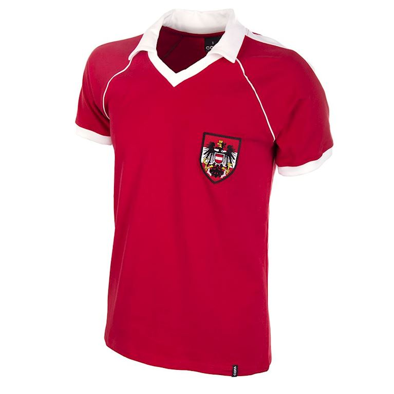 525 | Austria Away World Cup 1982 Short Sleeve Retro Football Shirt  | 1 | COPA