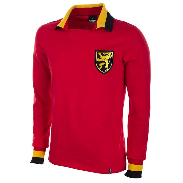 654 | Belgium 1960's Long Sleeve Retro Football Shirt | 1 | COPA