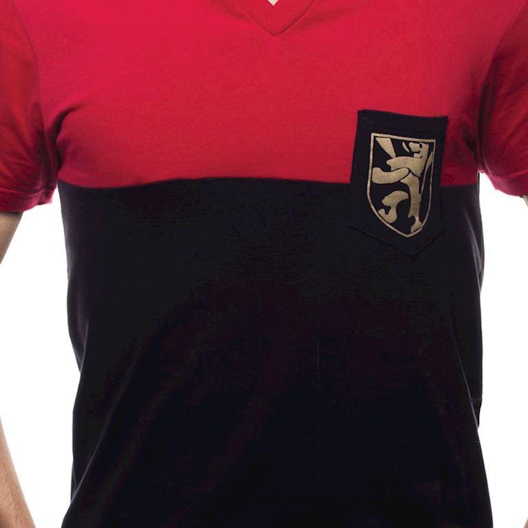 6641 | Belgium Pocket V-Neck T-Shirt | Red - Black | 2 | COPA