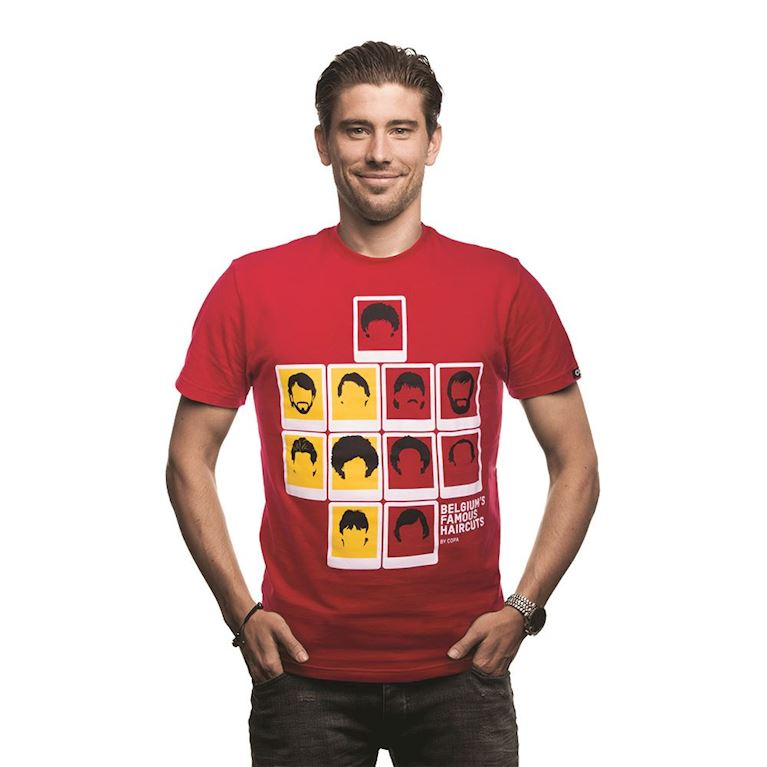 6642 | Belgium's Famous Haircuts T-Shirt | Red | 1 | COPA