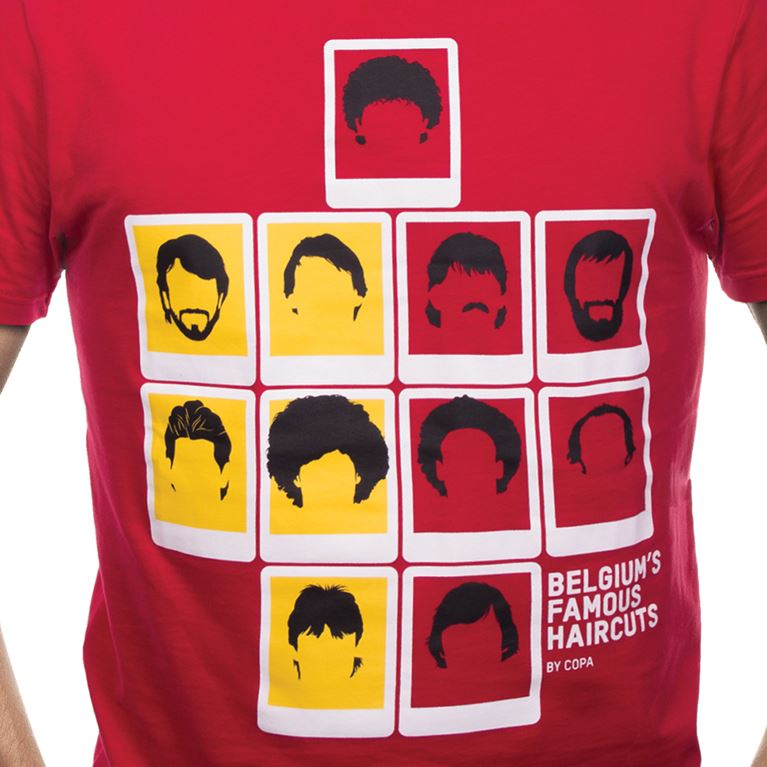 6642 | Belgium's Famous Haircuts T-Shirt | Red | 2 | COPA