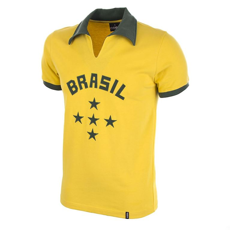 412 | Brazil 1960's Short Sleeve Retro Football Shirt | 1 | COPA