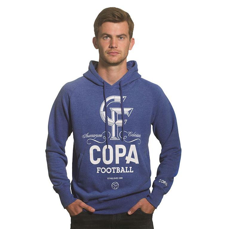 6444 | CF Hooded Sweater | Blue Mêlée | 1 | COPA