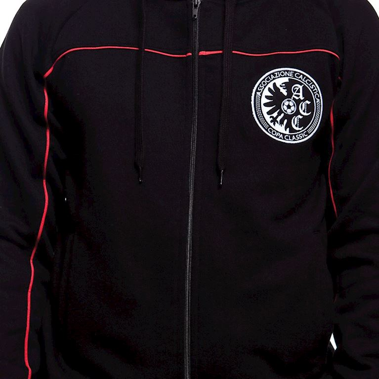 6421 | COPA Calcistica Zip Hooded Sweater | Black  | 2 | COPA