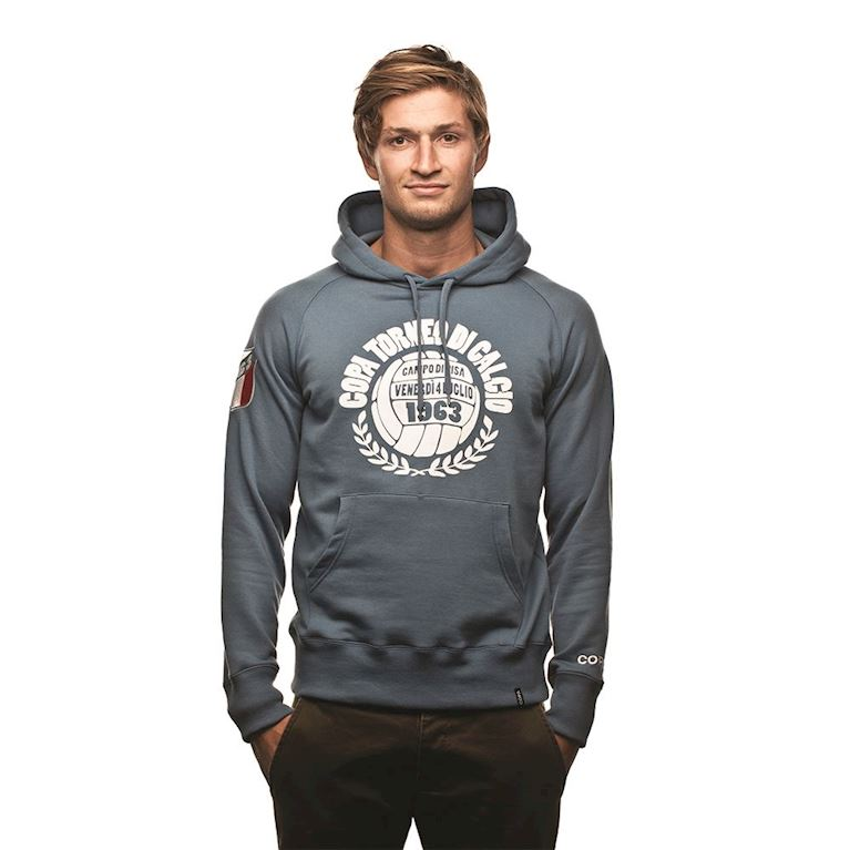 6427 | COPA Torneo Di Calcio Hooded Sweater | Faded Blue | 1 | COPA