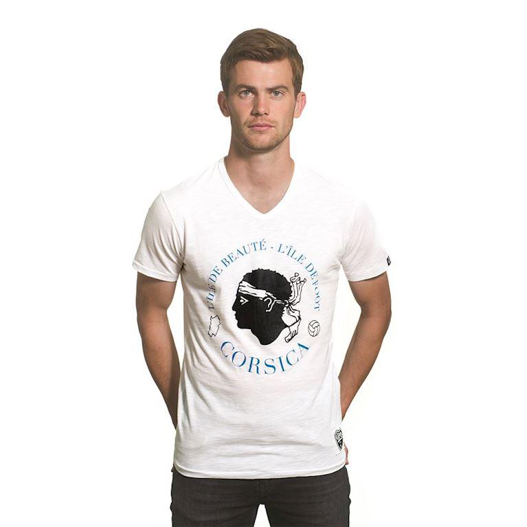 6711 | Corsica Vintage V-Neck T-Shirt | White | 1 | COPA