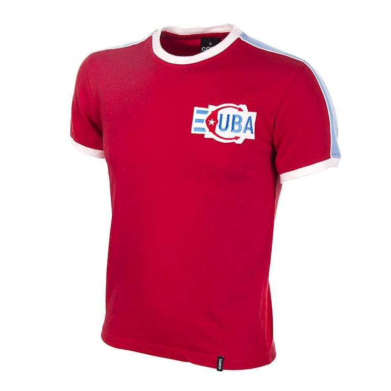 524 | Cuba 1980's Short Sleeve Retro Football Shirt | 1 | COPA