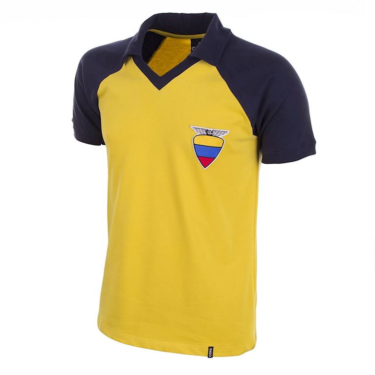 572 | Ecuador 1980's Short Sleeve Retro Football Shirt | 1 | COPA