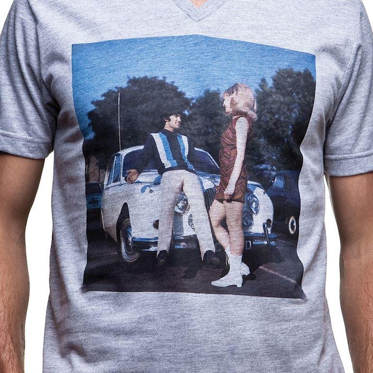 6598 | El Beatle V-Neck T-Shirt | Grey Mêlée | 2 | COPA