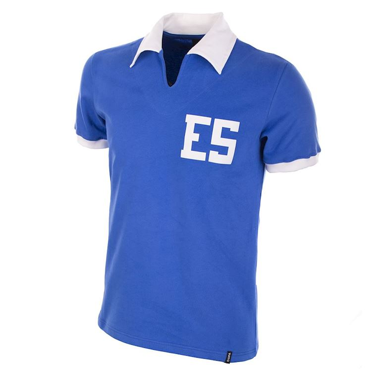 679 | El Salvador World Cup 1982 Short Sleeve Retro Football Shirt | 1 | COPA