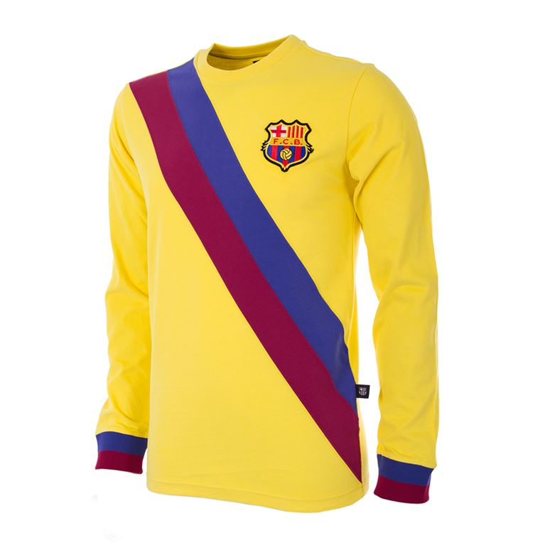 704 | FC Barcelona Away 1974 - 75 Long Sleeve Retro Football Shirt | 1 | COPA