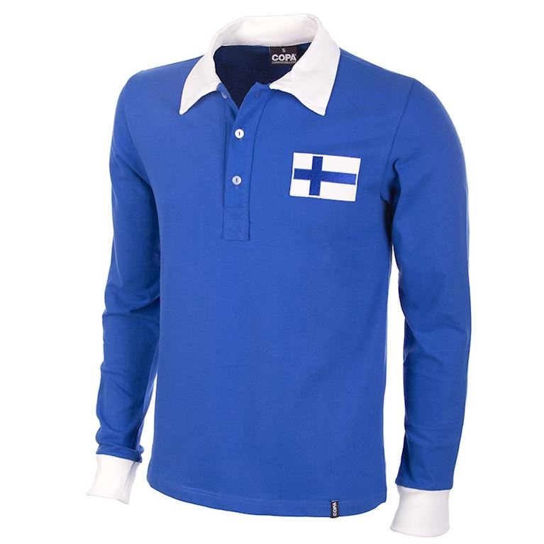447 | Finland 1955 Long Sleeve Retro Football Shirt | 1 | COPA