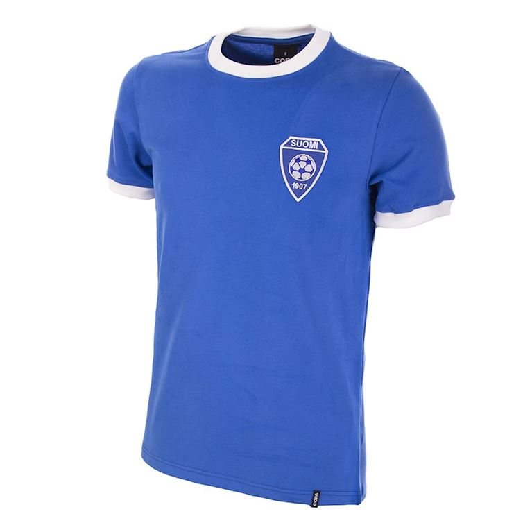 695 | Finland 1970's Short Sleeve Retro Football Shirt | 1 | COPA