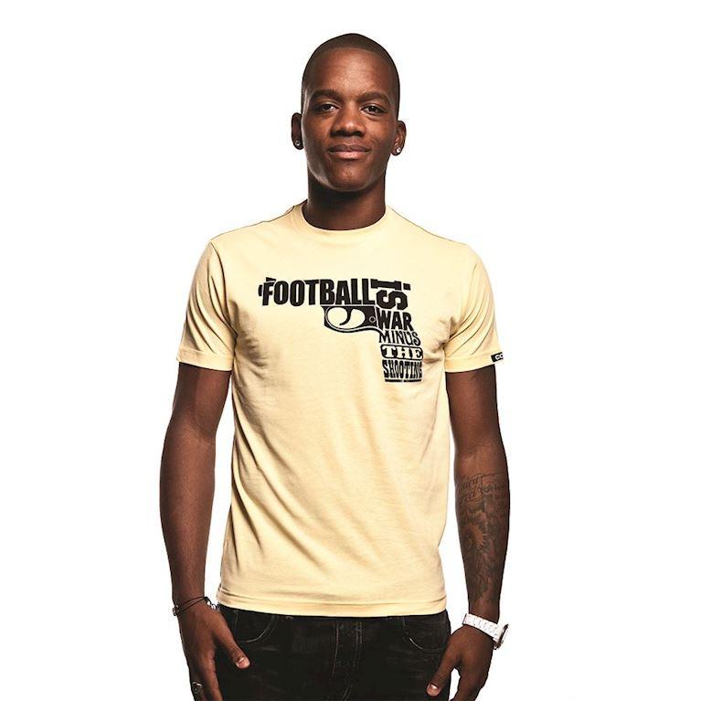 6399 | Football is War T-Shirt | Yellow | 1 | COPA