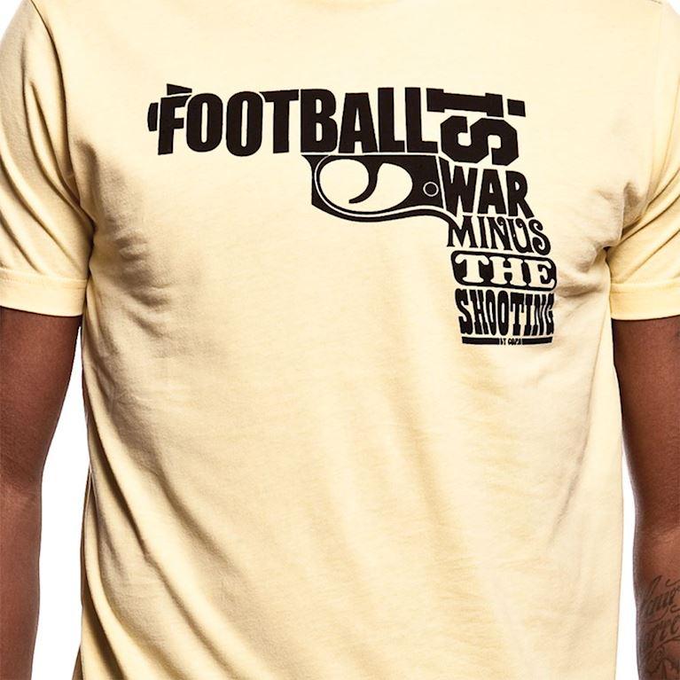 6399 | Football is War T-Shirt | Yellow | 2 | COPA