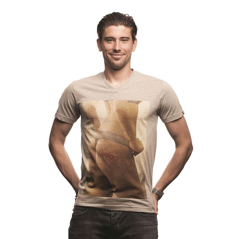 6631 | Football Mark V-neck T-Shirt | Grey Mêlée | 1 | COPA