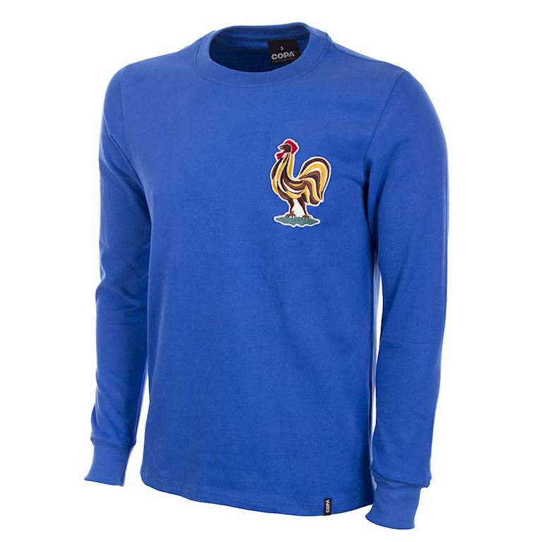 592 | France 1970's Long Sleeve Retro Football Shirt | 1 | COPA