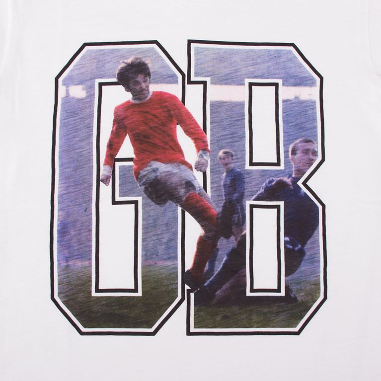 6761 | George Best GB V-Neck T-Shirt | White | 2 | COPA
