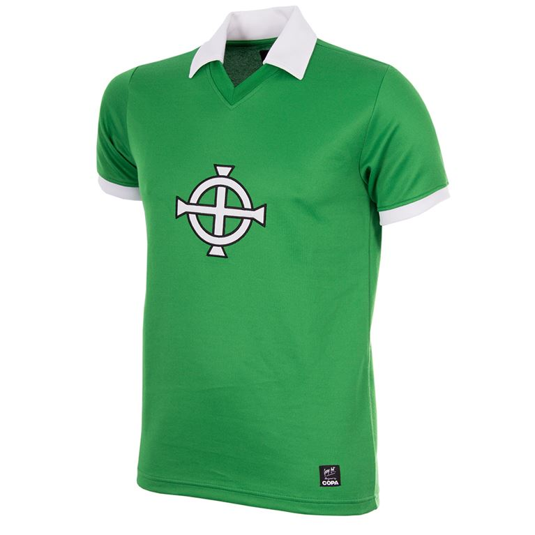 748 | George Best Northern Ireland 1977 Short Sleeve Retro Football Shirt | 1 | COPA