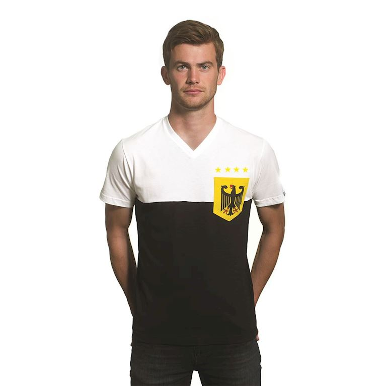 6646 | Germany Pocket V-Neck T-Shirt | White - Black  | 1 | COPA