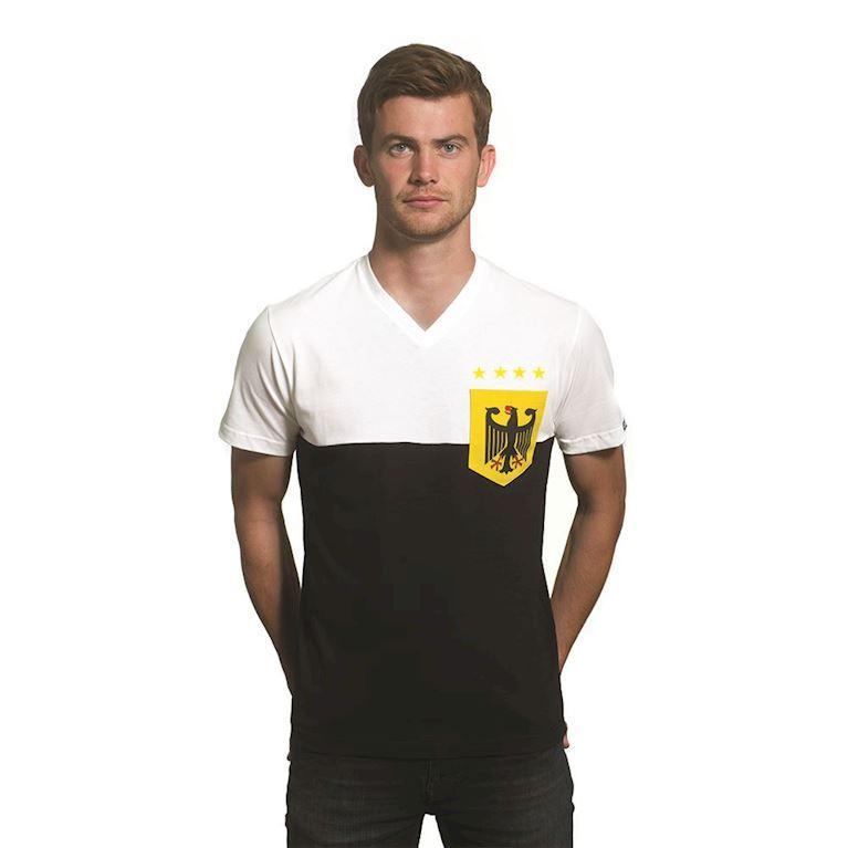 6646 | Germany Pocket V-Neck T-Shirt | White - Black | 1 | COPA