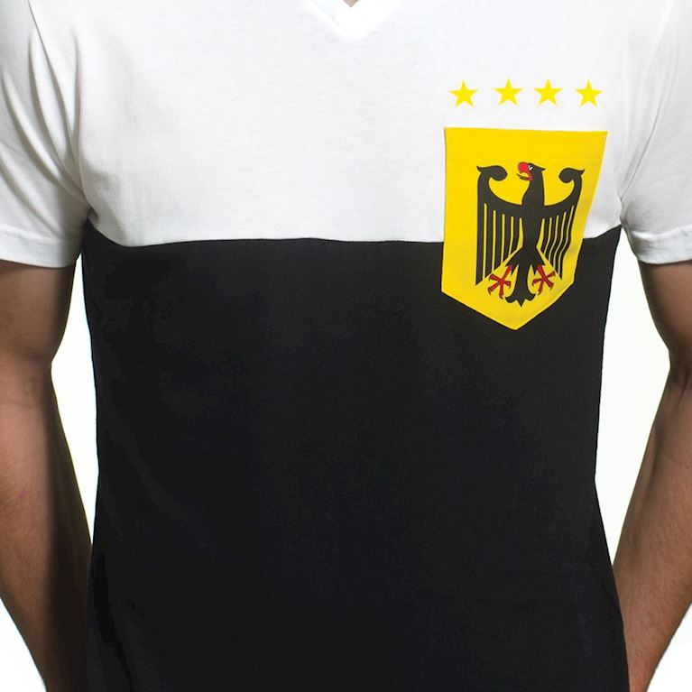 6646 | Germany Pocket V-Neck T-Shirt | White - Black  | 2 | COPA