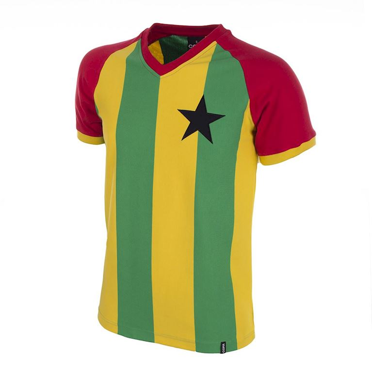 681 | Ghana 1980's Short Sleeve Retro Football Shirt | 1 | COPA