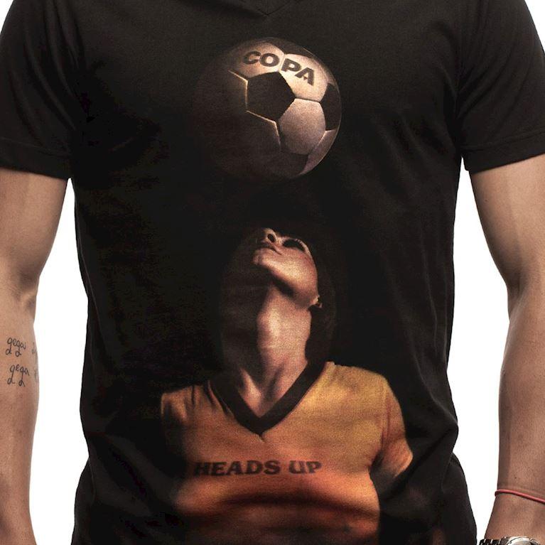 6623 | Heads Up V-Neck T-Shirt | Black | 2 | COPA