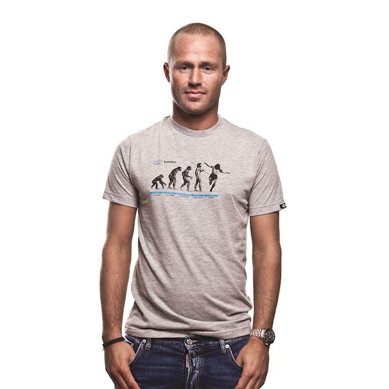 6532 | Human Evolution T-Shirt | Grey Mêlée | 1 | COPA