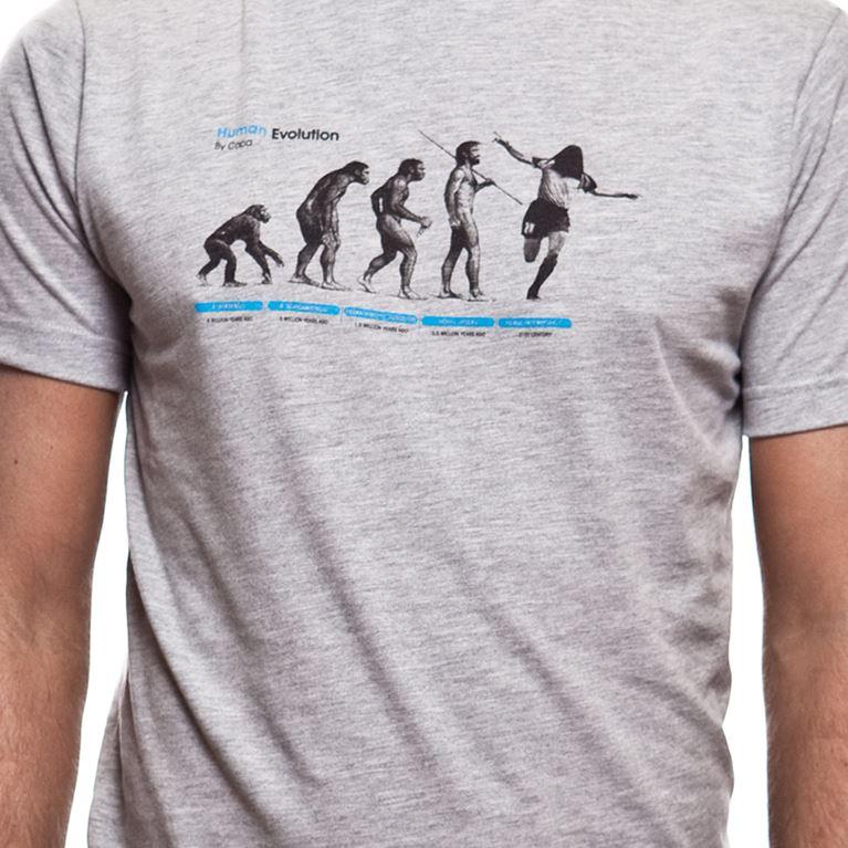 6532 | Human Evolution T-Shirt | Grey Mêlée | 2 | COPA