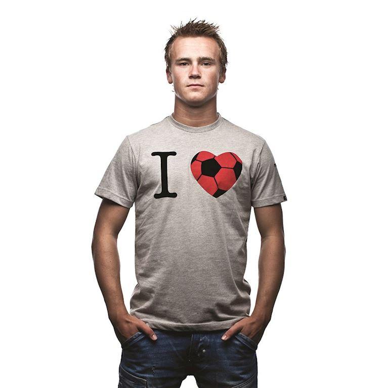 6544 | I Love T-Shirt | Grey Mêlée | 1 | COPA