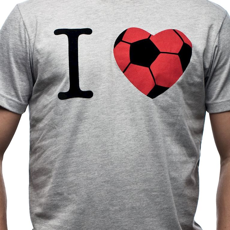 6544 | I Love T-Shirt | Grey Mêlée | 2 | COPA