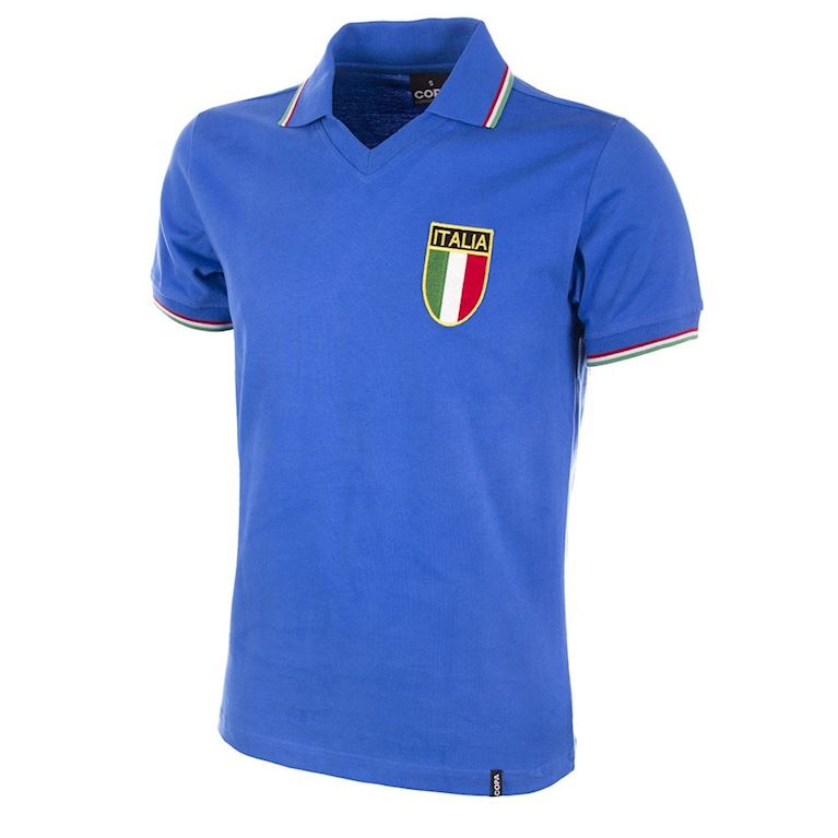 119 | Italy World Cup 1982 Short Sleeve Retro Football Shirt | 1 | COPA