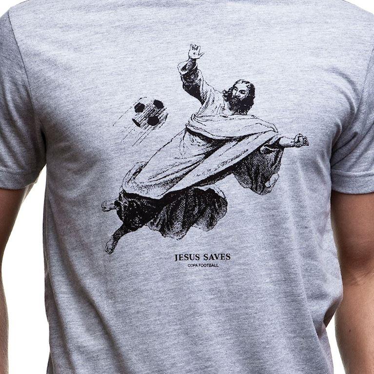 6604 | Jesus Saves T-Shirt | Grey Mêlée | 2 | COPA