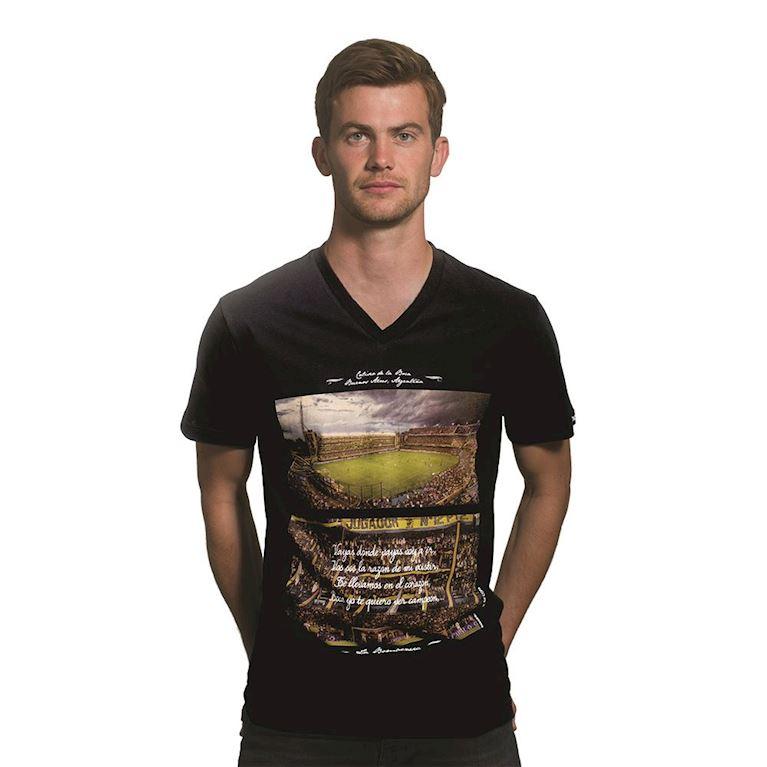 6643 | La Bombonera V-Neck T-Shirt | Black | 1 | COPA