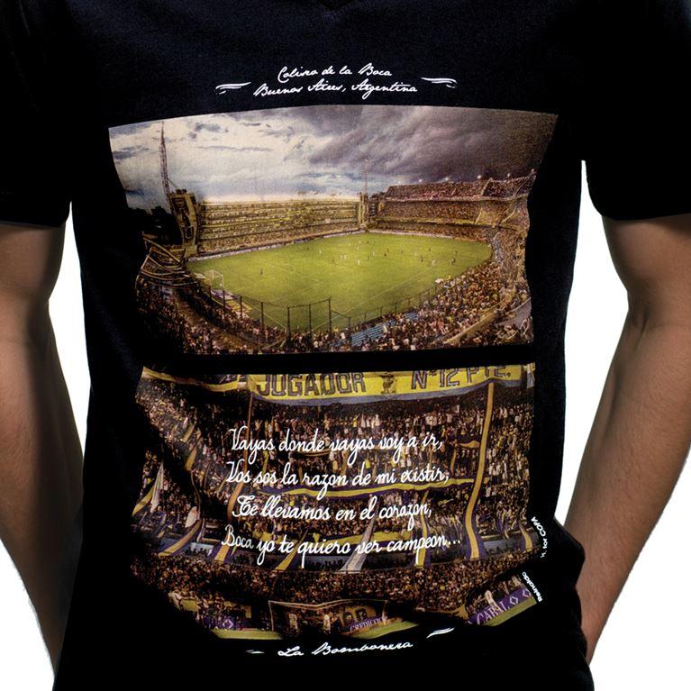 6643 | La Bombonera V-Neck T-Shirt | Black | 2 | COPA