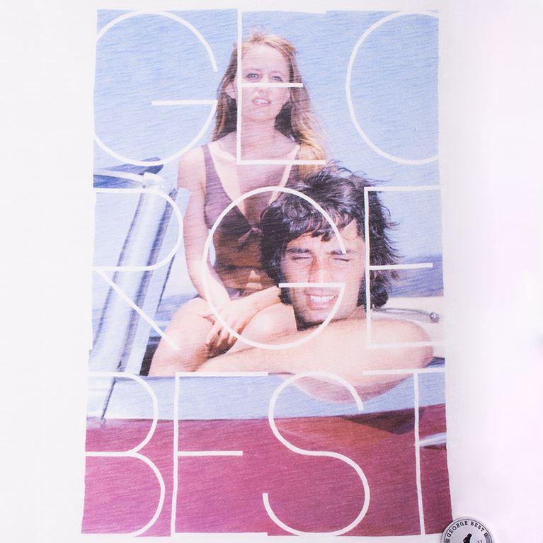 6757 | George Best Mallorca 1969 V-Neck T-Shirt | White | 2 | COPA